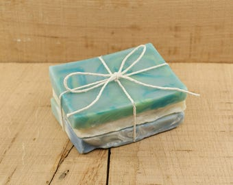 Stack of Vegan Soaps | End Pieces of Soap | Cold Processed Soap, Unique Soap, Gift Soap, Bath and Body Soap, Gift Idea For Friends