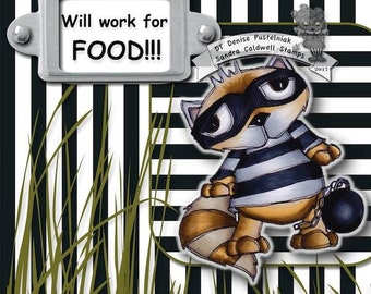 1168 Raccoon Thief Digi Stamp
