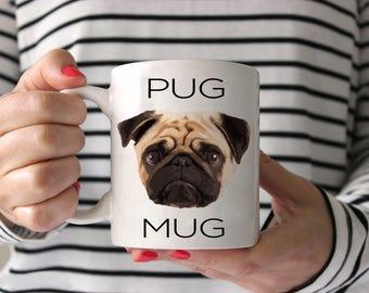 Pug Coffee Mug - Pug Ceramic Mug  - Pug Mug - Dog Mug - Pug Lover Gift - Pug Crazy Mug - Pug Face Mug - Pug lover mug - Funny Pug mug
