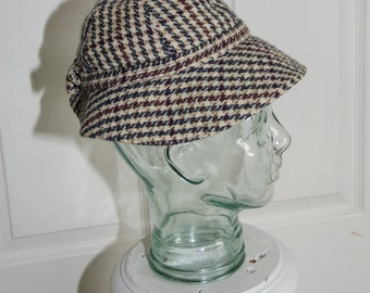 Vintage 1950's Peck & Peck Woman's Houndstooth Hat