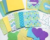 DIY Valentine Card Kit - Kids Valentine Kit - Mini Valentine Card Kit - School Classroom Valentines - Valentine Craft Kit - Make Your Own