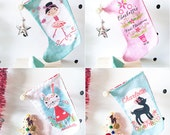 Girl's Personalised Christmas Stockings