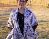Polar Fleece  Shawl Wrap Scarf with Pockets -One Size - Adult - Child - Fall-Winter- Gift