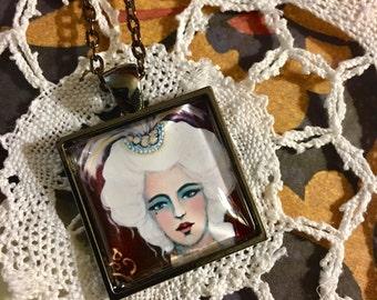 Portrait of Maria Amalia - Art Necklace