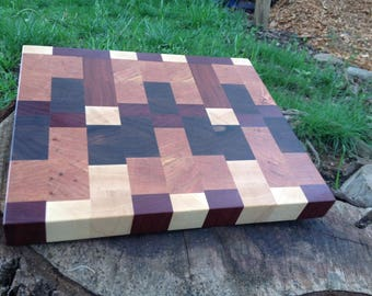 Ready To Ship Now - Patchwork End Grain Block