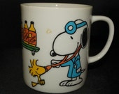 1965 Peanuts Characters Mug, Snoopy, Doctor of Medicine, Woodstock, My Mug, Coffee Mug, Hot Cocoa Mug