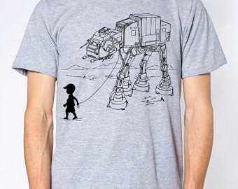 My Star Wars AT-AT Pet mens t-shirt, star wars graphic tee, funny fathers day, dad shirt, shirt for him, gift for husband, graduation gift