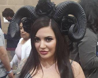 Ram horns,Horns, Ram horns, Ram, Horn, Horn headband, Halloween, Halloween horns, Ready to ship, Horror,Msformaldehyde