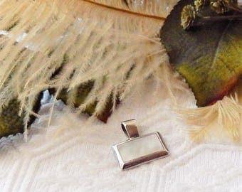 Sale......Sterling Silver .925 MOP Modernist Pendant