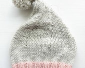 WILLIE WINKY knitted Gnome Hat #3293 parchment ballet pink