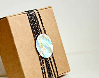Silver Foil Stickers 1.0in Envelope Seals {50} Silver Pearl Holographic Embossed Seals | Wedding Engagement Invitations | Gem Envelope Seals