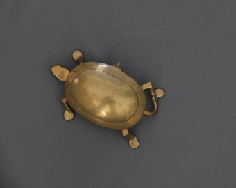 Solid Brass Turtle Box