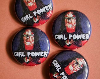 GIRL POWER // Carrie Movie Pin Horror Button Sissy Spacek Stephen King 70s Movie Feminism Pin Badge Punk