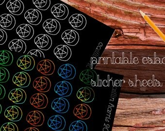 Printable Esbat Stickers for the Witchy Planner Addict - Cute and Pretty Decoration
