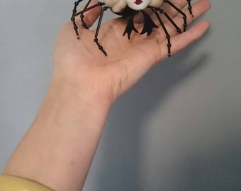 Charlotte - Spider Doll - Novelty Doll  Beaded, Embroidered,  Suede Spider