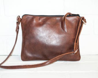 brown, sling bag, small purse, brown leather purse, sling bag, brown leather bag, phone purse, handmade, mini messenger, small purse, mini