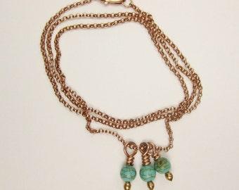 Rose Gold-Filled & Howlite Necklace