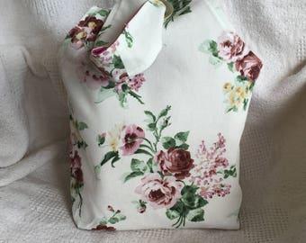 Grommet Bag-Pink Roses