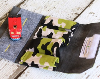 Car Wallet Camo. Toy Car Carrier. Toy Car Roll Up. Toy Car Holder. Travel Toy. Car Mat. Car Toy. Car Organizer. Gift for Kids. Car Storage.