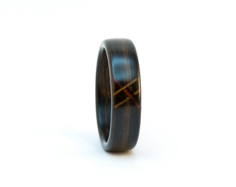Wood Ring, Wooden Ring, The Stitch Ring, Wood Wedding Band, Bentwood Ring, Ebony Ring, Wooden Wedding Ring, Wood Band, Bentwood Wedding Band