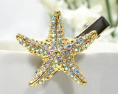 Starfish Hair Clip Beach Hair Clip Sea Star Hair Pin Beach Hair Jewelry Starfish Barrette