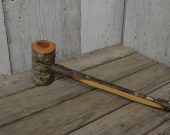 Mallet, Wood Gavel, Humorous Gift, Outdoorsman, Cabin hammer, Ozark decor, Cherry Mallet