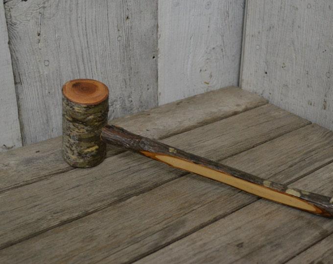 Mallet, Wood Gavel, Humorous Gift, Outdoorsman, Cabin hammer, Ozark decor, Cherry Mallet