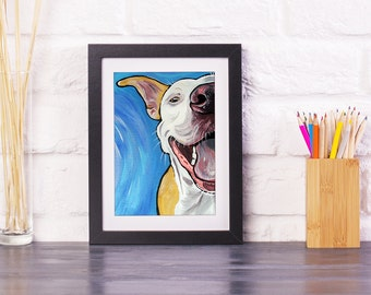 "PIT BULL Art Print 8x10""- Dog Art Print- Dog Wall Decor- Dog Gifts for Dog Lovers- Gifts- Pit Bull"
