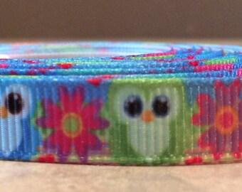 Owl 3/8 inch ribbon