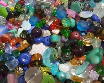 100 Piece Czech Glass Beads Mix Firepolish Glass Beads Pressed Glass Beads for Jewelry Making