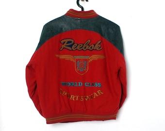 DOPE Vintage REEBOK SPORT Red Varsity Jacket Size S