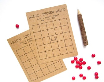 Bridal Shower Bingo - Antler Bridal Shower Game - Bridal Bingo Game - Bridal Shower Bingo Cards - Rustic Bridal Shower - Boho Antler Theme