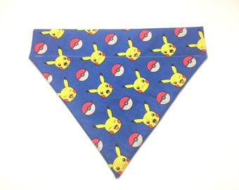 Pet Accessory - Pikachu & Pokeball - Over-the-Collar - Custom - Bandana, Bow Tie, Neck Tie, Flower