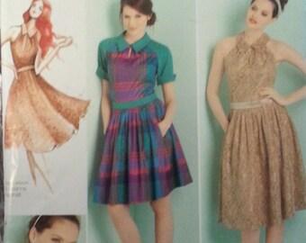 Leanne Marshall Misses Dress Pattern with Tie Belt Simplicity 1755 Misses Dress Size 12-20 Misses Plus Dress
