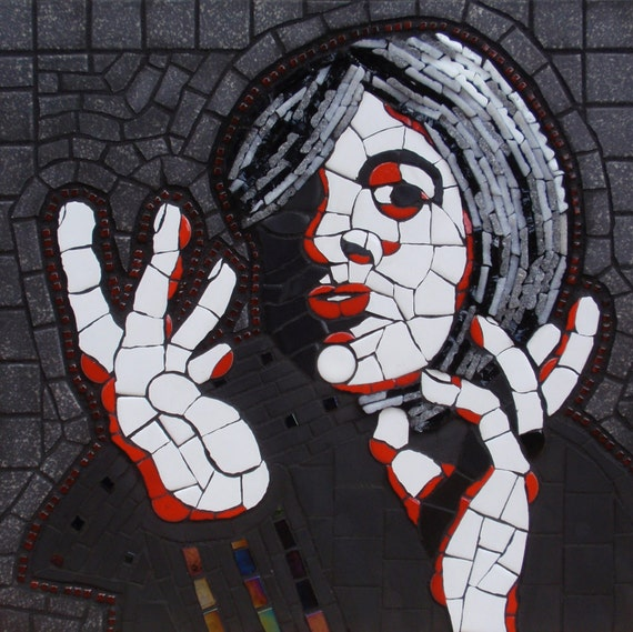 HandSpeak Original Mosaic Portrait