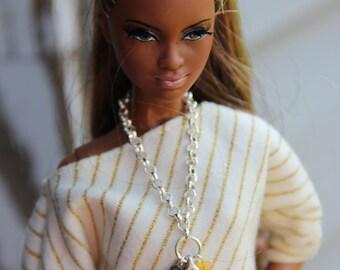 Autumn Leaf Necklace Doll Jewelry Set fits Fashion Dolls 1/6 scale 11 1/2 - 12 inch