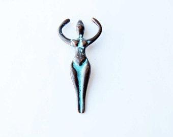 Copper Patina Goddess Charm Necklace Bracelet Pendant Charm