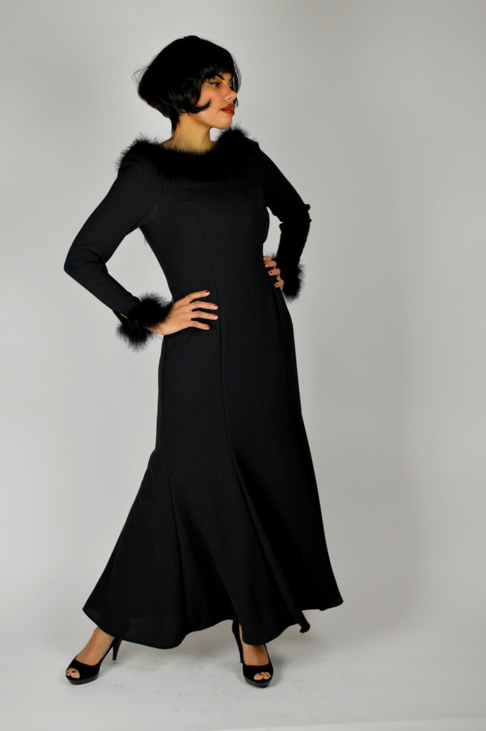 medium to long dresses vintage