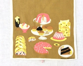 Linen Towel Desserts Marian Meadows Hardy Craft 1960s