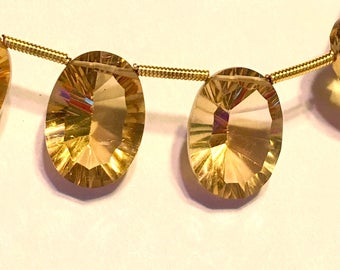 Citrine LARGE gem quality faceted ring cut ovals 1 pair or more AAAA