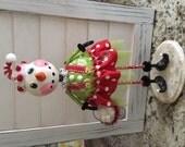 Vintage Inspired Folk Art Christmas Snowman Art Doll