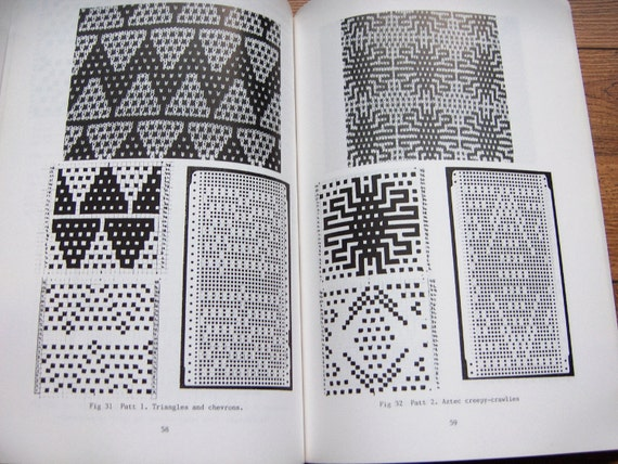 vintage 1987 knitting pattern book Mosaic Floatless Fair-Isle by ...