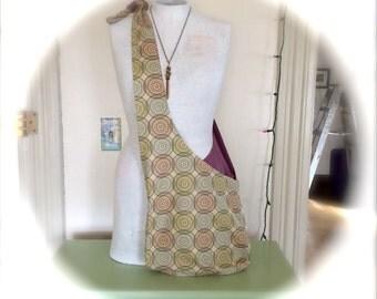 Earthtone Swirls Hobo Boho Bag Adjustable Washable
