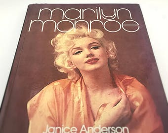 1983 Marilyn Monroe Coffee Table Book by Janice Anderson - Hardcover Biography, Photography Book - Norma Jeane, Blonde Bombshell