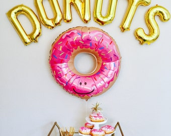 Donuts Balloons, Donut Banner, Donut Party Decoration, Donuts,Donut Station, Donut Table, Donut Theme, Donut Party, Donut, Donut Decorations