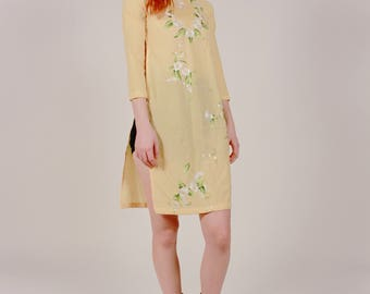 Handmade Daisy Embroidered Tunic Dress
