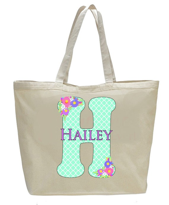 Bridesmaid Bags, bride tribe bags, Monogrammed Bag, matching wedding party totebags, Large Canvas Tote Bag, Personalized BRIDESMAID Gift