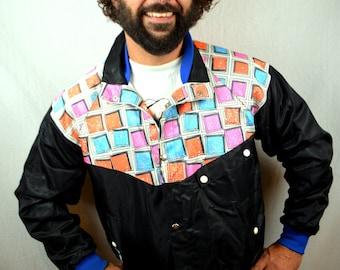 Vintage 1980s Motocross Jacket Coat Ski Neon - AXO Sport America