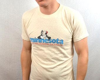 Vintage 1980s 80s Minnesota Tee Shirt Tshirt