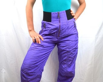 Vintage 80s Purple Ski Snow Pants - by Head